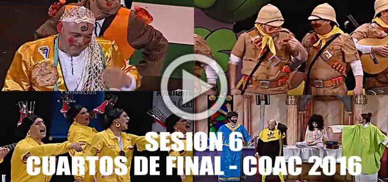 Sesi n 6 de cuartos de final del coac 2016 completa en for Cuartos de final coac 2017
