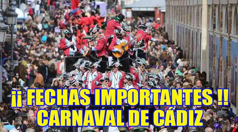 Fechas m s se aladas carnaval de c diz 2017 al son del for Cuartos de final carnaval 2017