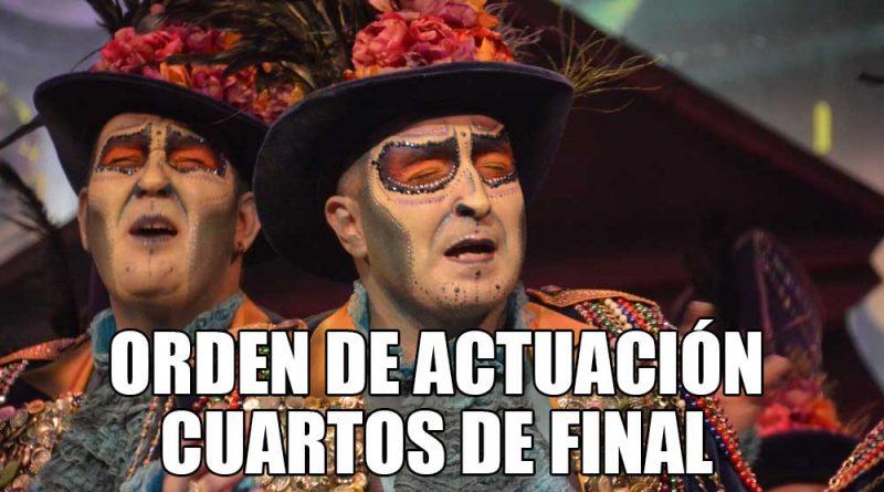 Orden de actuaci n de cuartos de final coac 2017 al for Cuartos de final carnaval 2017