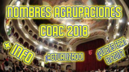 nombres agrupaciones coac 2018