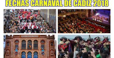 fechas carnaval de cadiz 2018