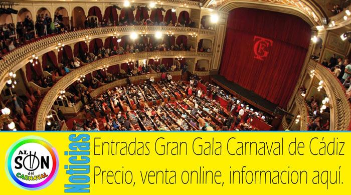 entradas gran gala del Carnaval de Cádiz 2018