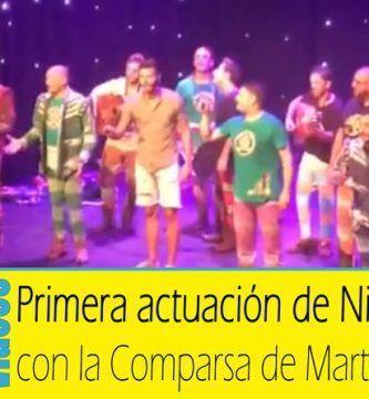 Primera Actuación de Nico con Martínez Ares cantando 'Carnecita de Gallina'