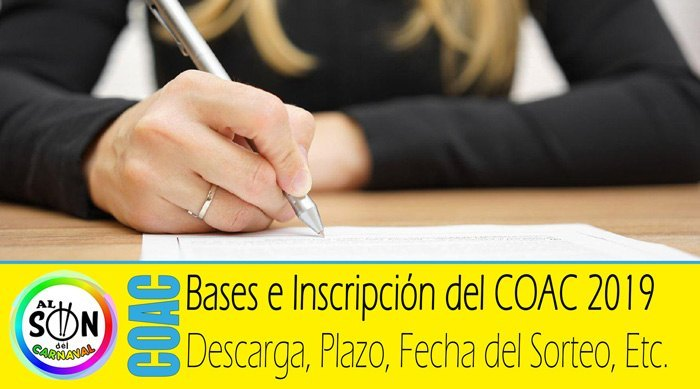 bases inscripcion coac 2019