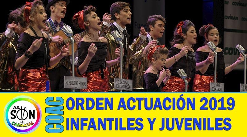 orden actuacion coac 2019 infantiles juveniles
