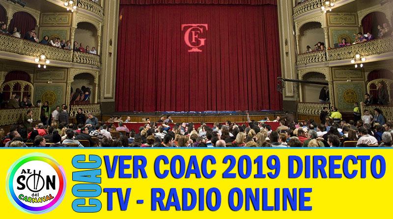 coac 2019 directo online onda cadiz canal sur radio