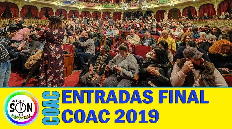 entradas final coac 2019