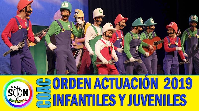orden actuacion infantiles juveniles coac 2019