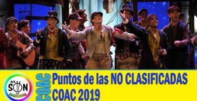 PUNTUACION DE LAS NO CLASIFICADAS COAC 2019