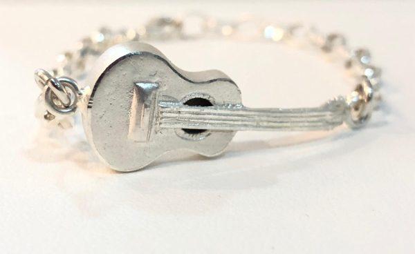 pulsera guitarra de plata