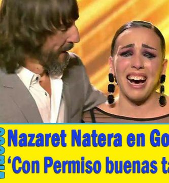 Nazaret Natera Con permiso buenas tardes got talent