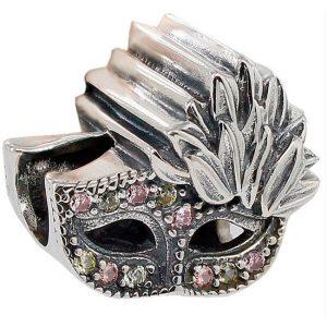 Abalorio charm antifaz mascara de carnaval