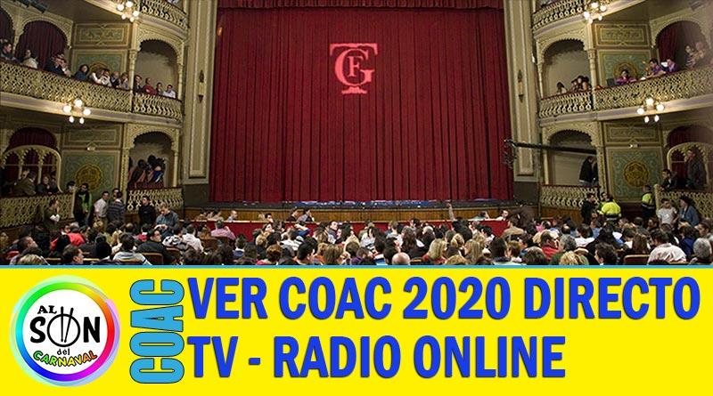 VER COAC 2020 EN DIRECTO