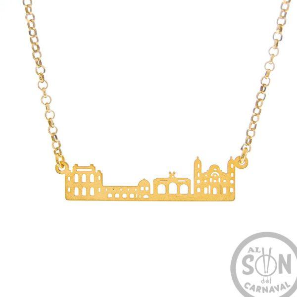 colgante skyline oro