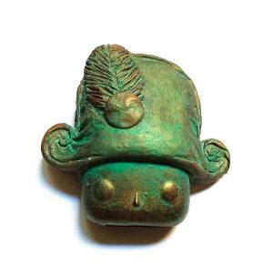 Broche Juan Carlos Aragon bronce