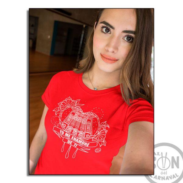 camiseta corazon yo me enamore de ti roja