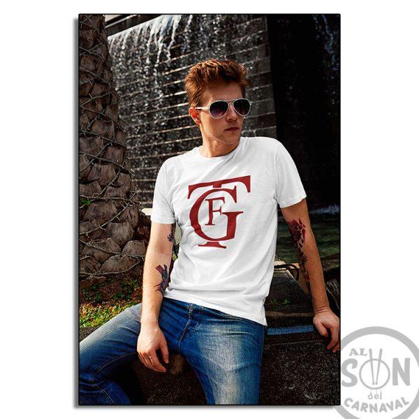 camiseta logo gran teatro falla GTF blanca