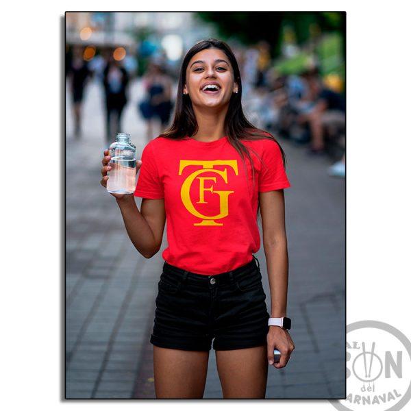camiseta logo gran teatro falla GTF roja