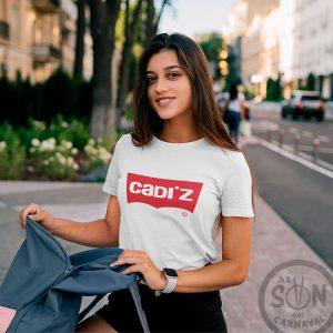 camiseta marca Cádiz blanca