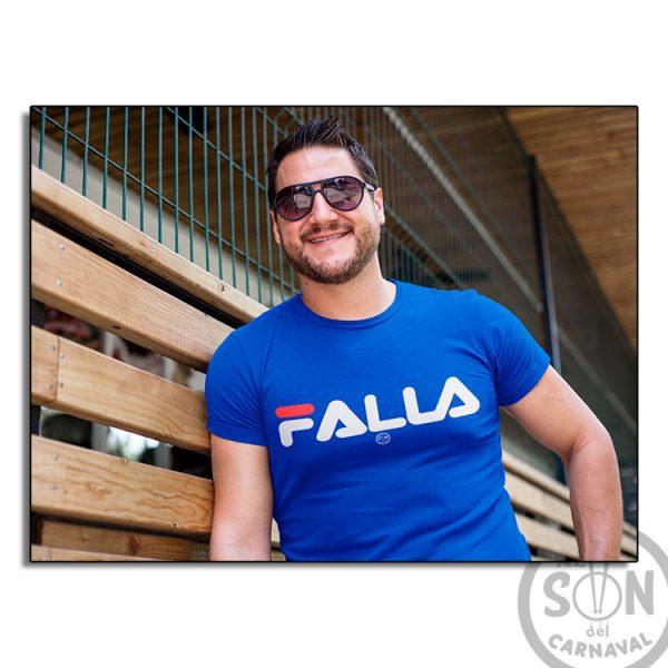 camiseta marca falla azul