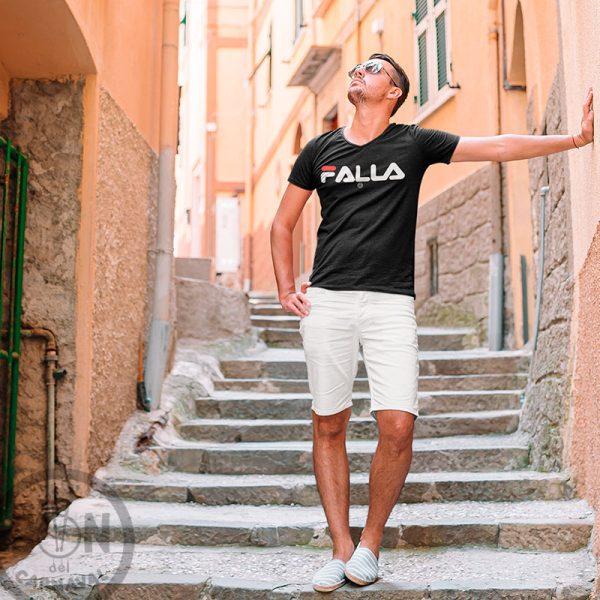 camiseta marca falla negra