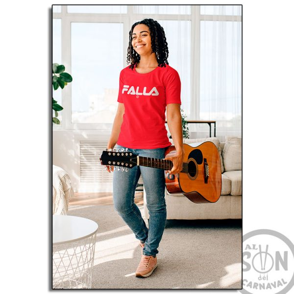 camiseta marca falla roja