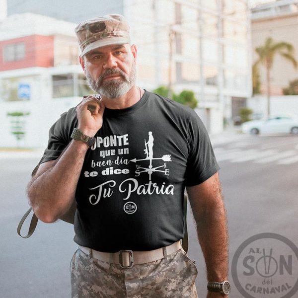 camiseta suponte que un buen dia te dice tu patria negra