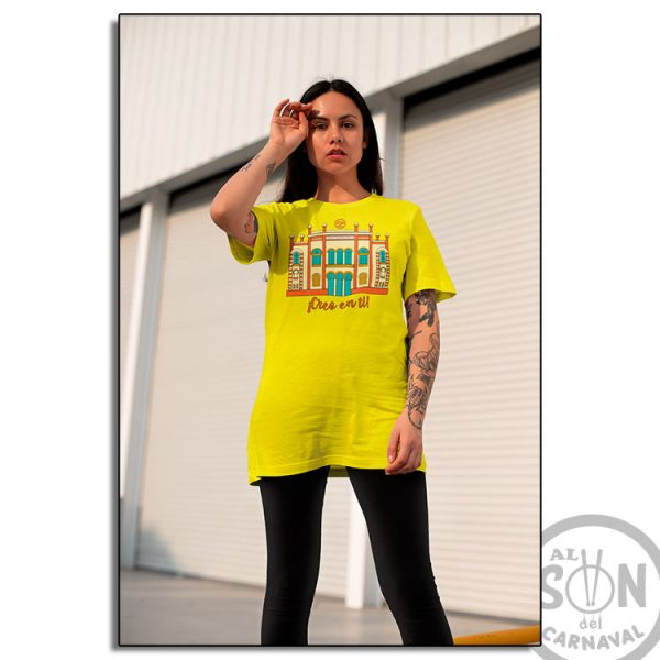 camiseta teatro falla - creo en ti - amarilla