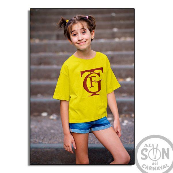 Camiseta para niño Logo gran teatro falla gtf - amarilla