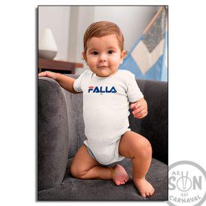 body bebe marca falla - blanco