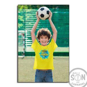 camiseta para niño Cadiz somos de primera - amarilla