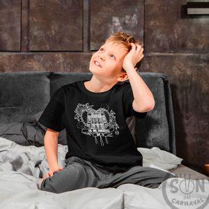 camiseta para niño Corazón Yo me enamore de ti - negra
