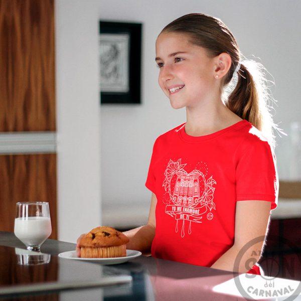 camiseta para niño Corazón Yo me enamore de ti - roja