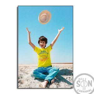 camiseta para niño Que bonita es cadiz por la tarde - amarilla