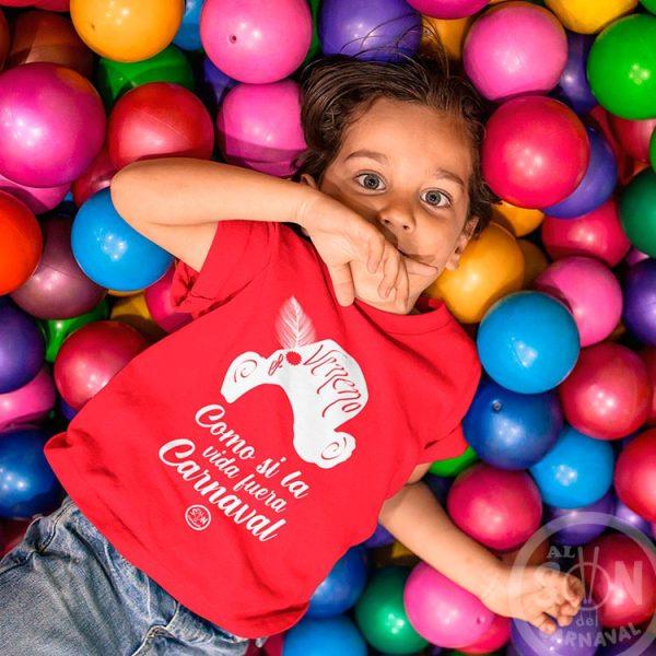 camiseta para niño capitan veneno - como si la vida fuera carnaval - roja