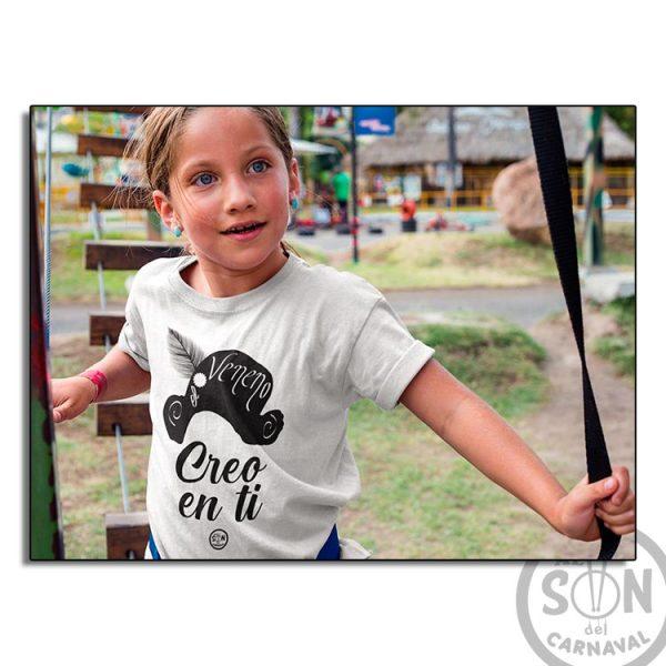 camiseta para niño capitan veneno - creo en ti - blanca
