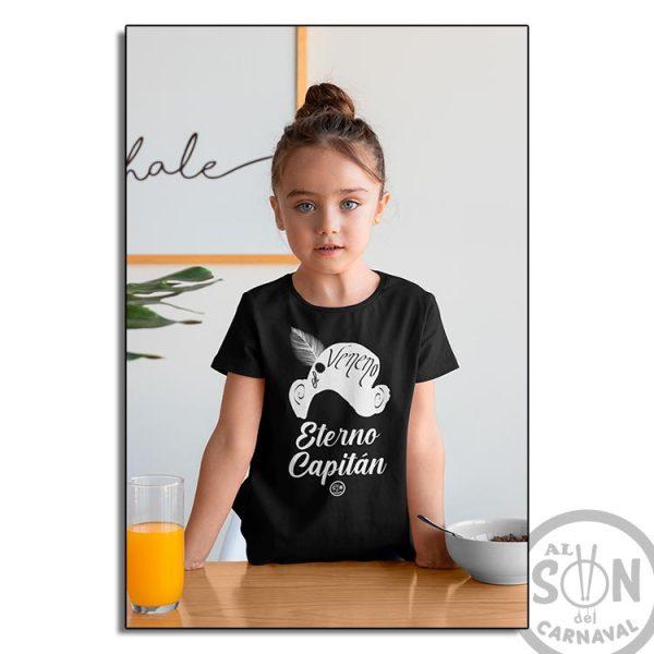 camiseta para niño capitan veneno - eterno capitan - negra