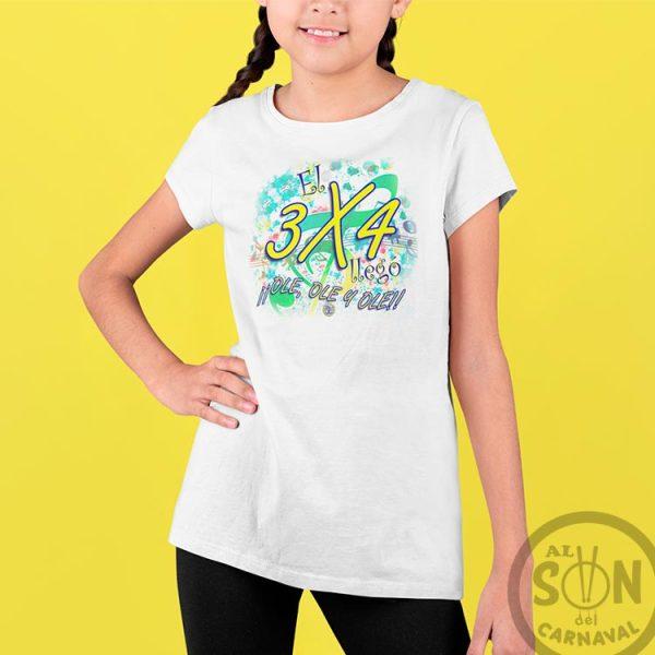 camiseta para niño el 3x3 llego ole ole ole - blanco