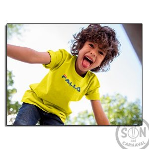 camiseta para niño falla - amarillo