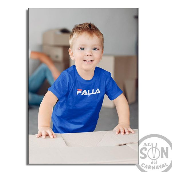 camiseta para niño falla - azul