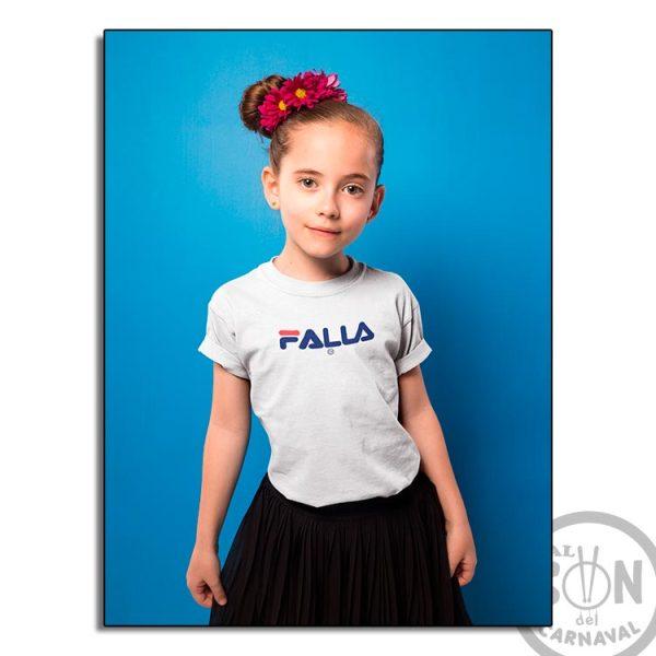camiseta para niño falla - blanca