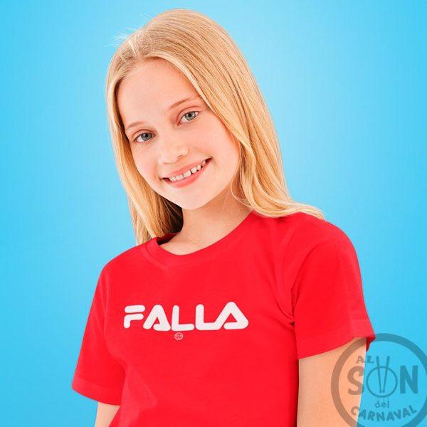 camiseta para niño falla - rojo