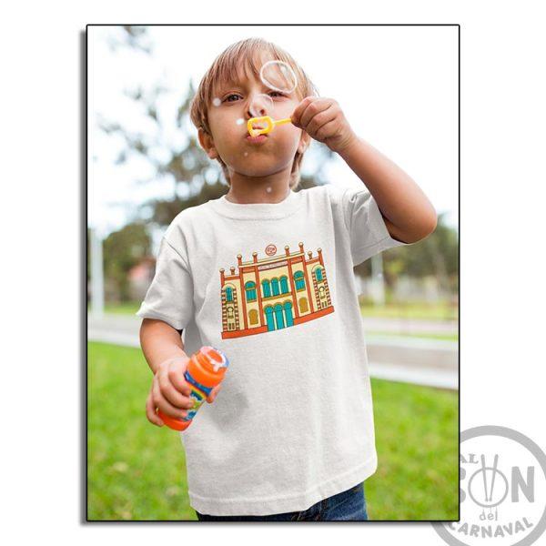 camiseta para niño teatro falla a todo color - blanca