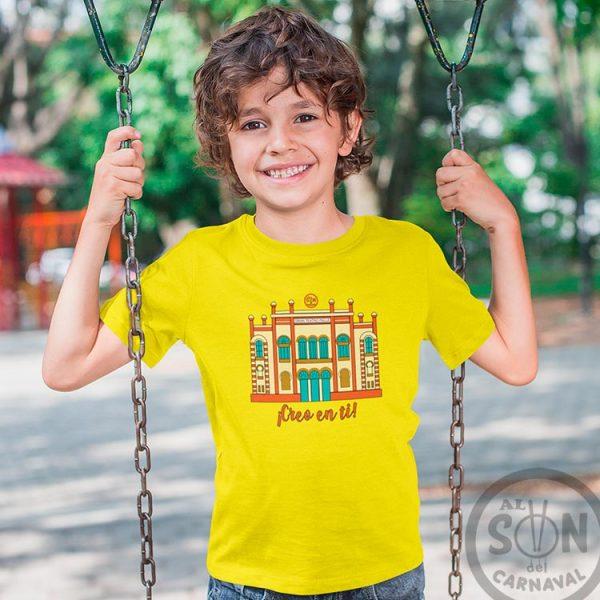 camiseta para niño teatro falla a todo color - creo en ti - amarilla