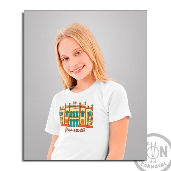 camiseta para niño teatro falla a todo color - creo en ti - blanca