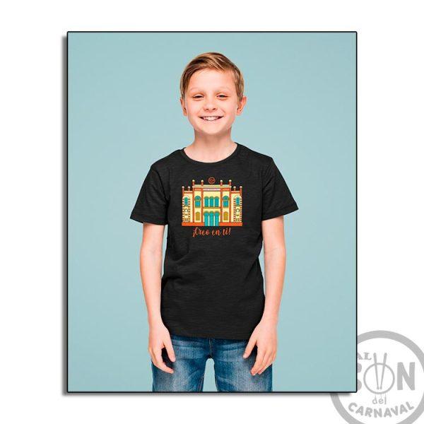 camiseta para niño teatro falla a todo color - creo en ti - negra