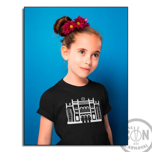 camiseta para niño teatro falla blanco - negra