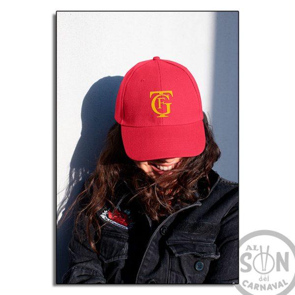 gorra logo gran teatro falla gtf roja