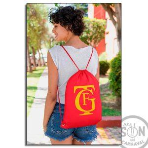 mochila de saco Logo Gran Teatro Falla roja