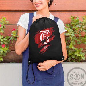 mochila de saco logo del Falla Arañado negra